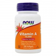 Витамин A NOW Vitamin A 10,000IU   (100 softgels)