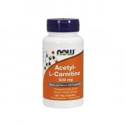 Л-карнитин NOW Acetyl-L-Carnitine 500 мг  (100 капс)
