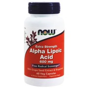 Антиоксиданты  NOW Alpha Lipoic Acid 600mg   (60 caps.)